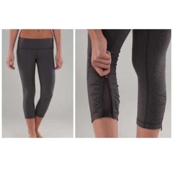 ba3f82b041 lululemon athletica Pants | Lululemon Rare Black Cardio Kick Crop ...